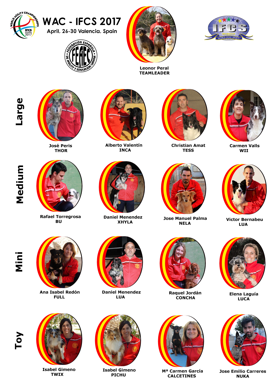 Seleccion Española IFCS WAC 2017